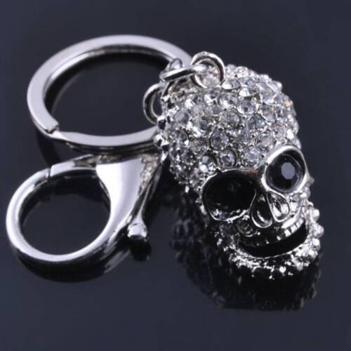 Fashion Big Crystal Skull Pendant Purse Bag KeyChain Rhinestone Keyring Gifts