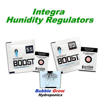 INTEGRA BOOST 55/% 62/% HUMIDITY REGULATORS 2 WAY CONTROL CURE HERBS FLOWERS