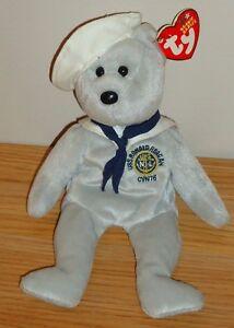 09e3827dacf Ty Beanie Babies RONNIE Ronald Reagan USS NAVY Sailor Bear w Tag ...