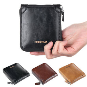 Credit-ID-Card-Holder-Leather-Wallet-Coins-Pocket-Money-Clip-Zipper-Purse