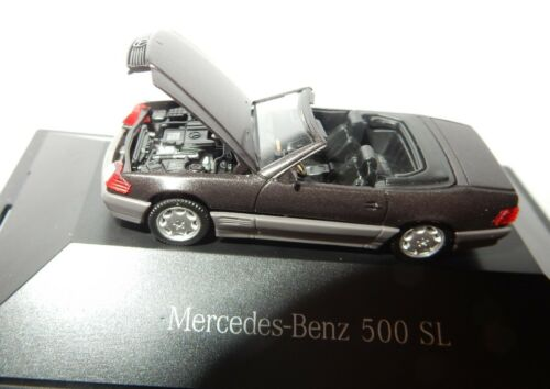 MICRO HERPA HO 1//87 MERCEDES-BENZ 500 SL GRIS FONCE IN BOX