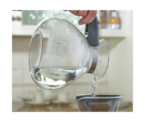 Medelco Glass Boil Gas Water Stovetop Whistling Kettle Coffee Tea Cocoa 12 cup