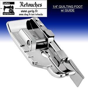 Vue dégagée point droit de pied-guide 1//4 pouce pour machine à coudre