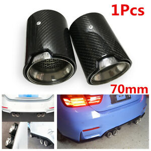 70mm Inlet Real Carbon Fiber Exhaust End Pipe Muffler Tip for BMW M2 F87 M3 F80 M4 F82 F83 M5 F10 M6 F12 F13 X5M X6M