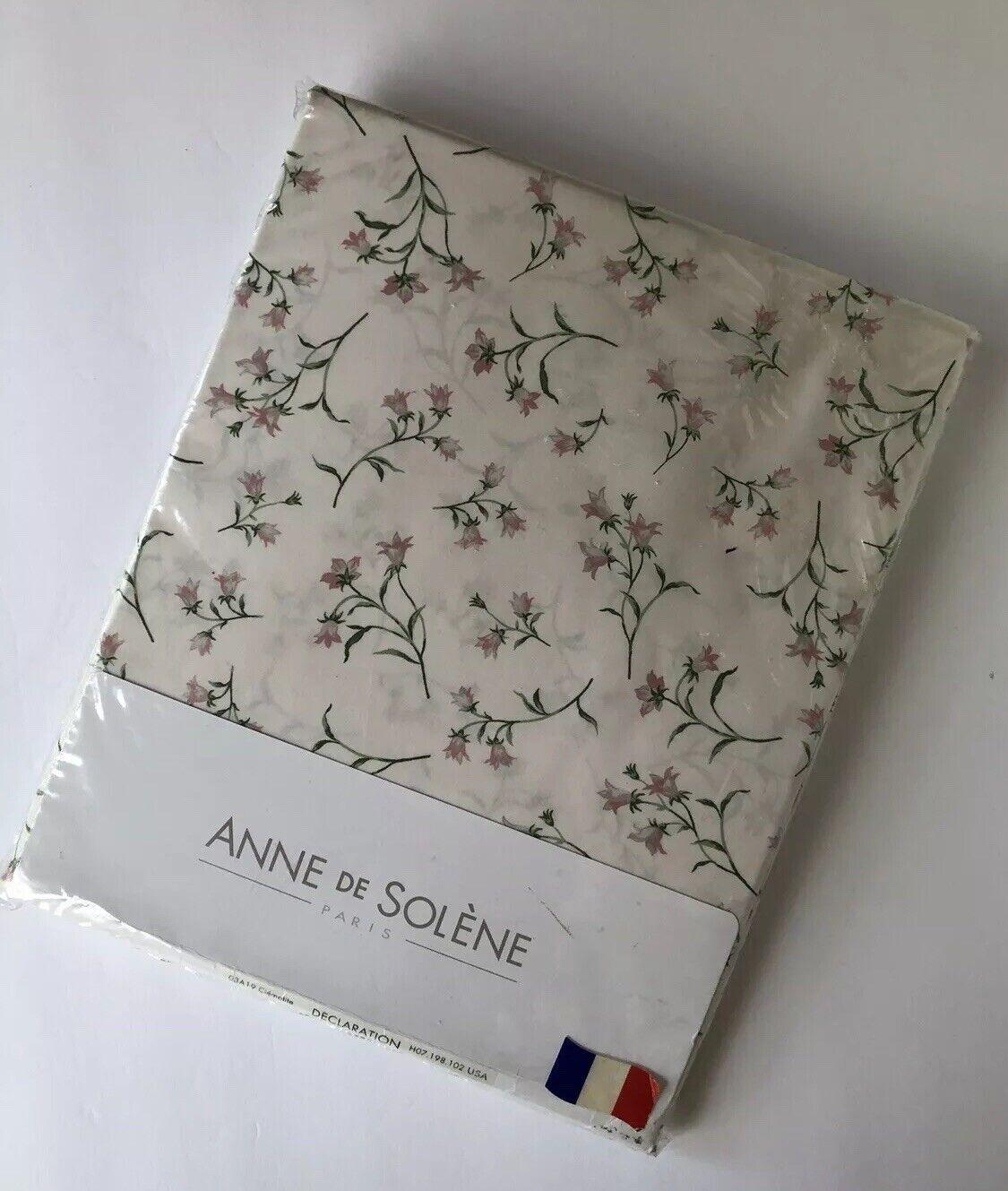 Anne De Solene Pivoine anne de solene paris twin fitted sheet admiration pink floral percale 100%  coton