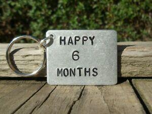 Happy 6 Months Anniversary Gift For Him Her Boyfriend Girlfriend Keyring Love Ebay