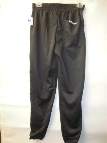 Russell Youth Boys Kids Baseball Pants Elastic Pull Up Size XL Black 90121BK