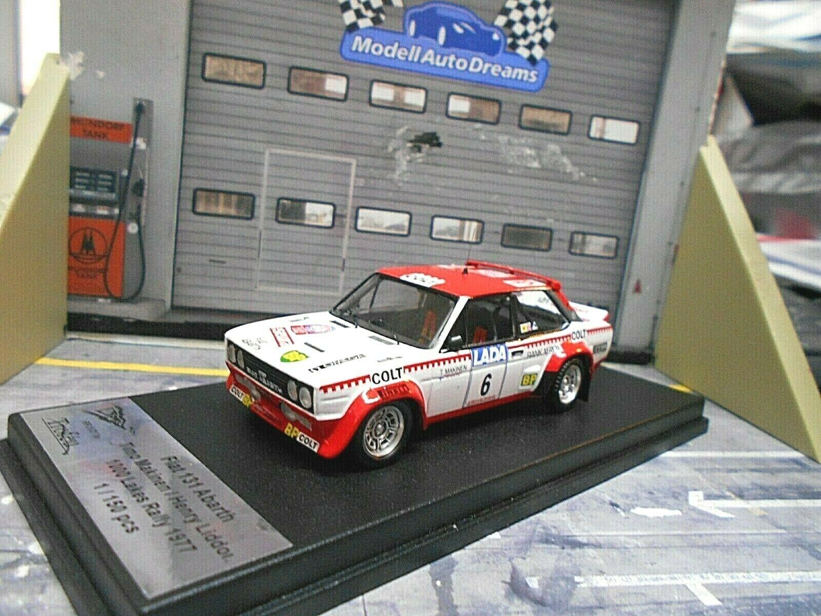 Fiat 131 Abarth Rally suecia 1977  6 makinen upo Colt Lada Scala Trofeu 1 43