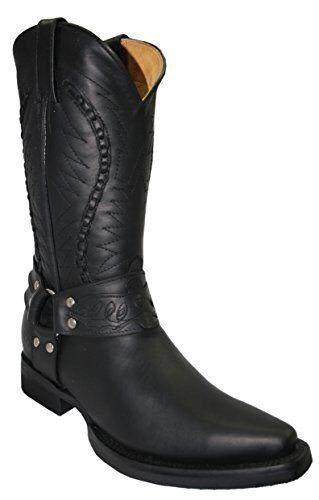GARINDERS slip Galveston noir homme cowboy western cuir slip GARINDERS on pointu bottes 55229b