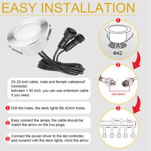 WIFI Bluetooth Ø61mm LED Boden Einbaustrahler Einbauleuchte Terrasse Beleuchtung