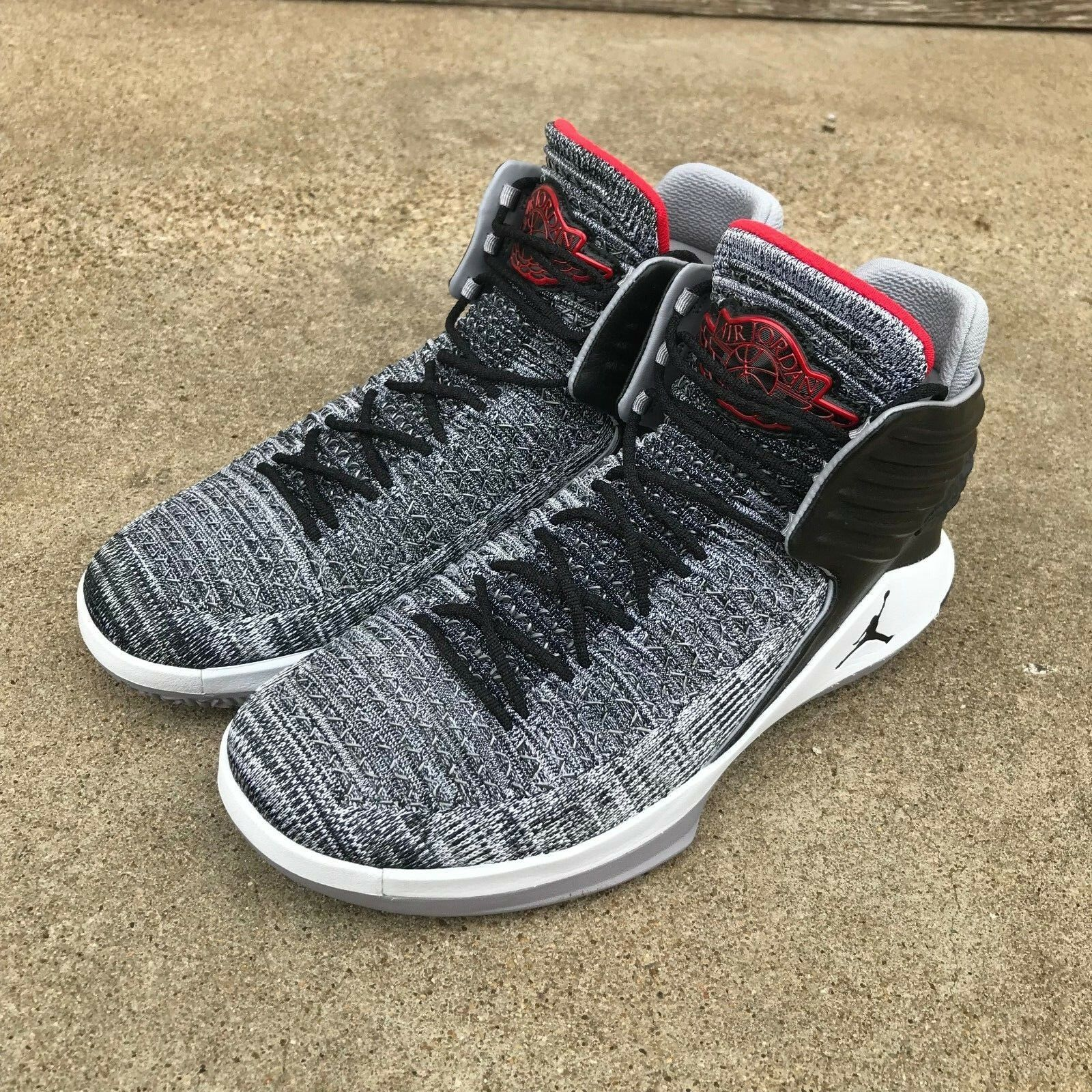 NEW NIKE AIR JORDAN RETRO XXXII 32 MVP MVP MVP Sz 10.5 Black Cement Grey Red AA1253 002 b5464d