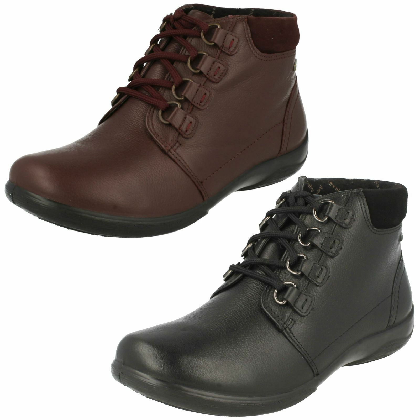PADDERS LADIES LACE UP ANKLE Stiefel JOURNEY schwarz AND PLUM LEATHER
