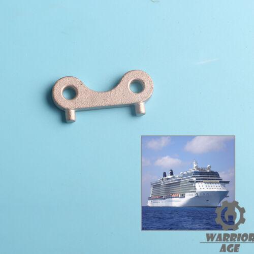 Stainless Steel Water Fuel Gas Tank Cap Gate Door Key Plate Hook Marine Deck