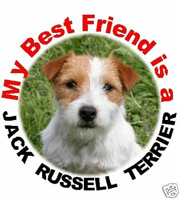 2 Jack Russell Terrier Round Car Stickers By Starprint Auto combined postage