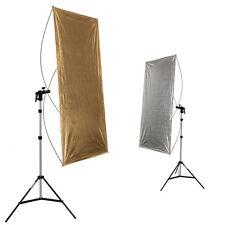 2in1 gold-silber Reflektorpanel Reflektor-Segel 90x180 cm mit Stativ 200 cm