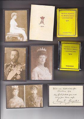 REPRODUCTION PRINCESS MARY 1914 CHRISTMAS TIN SET 2 (AGED LOOK)