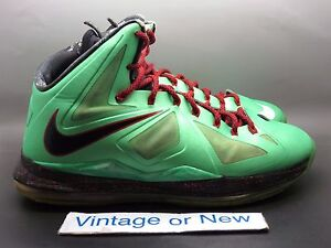 low priced 1a5c8 c5b3f Image is loading Nike-LeBron-X-10-Cutting-Jade-sz-10-