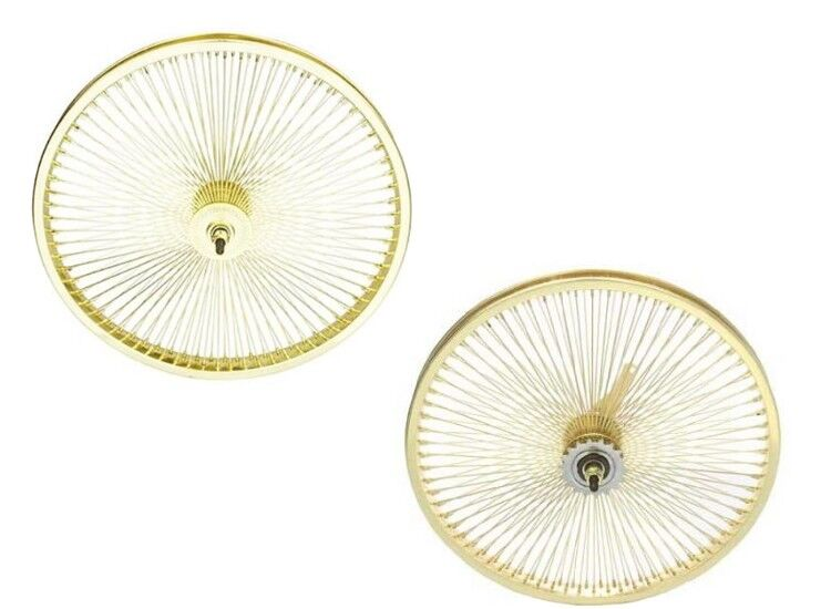 Beach Cruiser Bike 20 x1.75 144 spokes R & F Wheelset gold W Coaster Brake