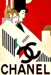 Art ad chanel haute couture deco poster print for Chanel haute couture price range