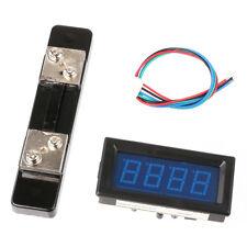 4 Digital Ampere Meter 0 50a Dc Blue Led Display Ammeter Shunt High Precision