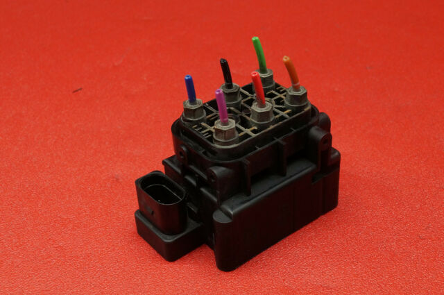 Audi A6 4F C6 4F0616013 Compresor de Aire Unidad Válvula Neumática Original /