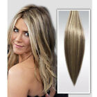 7 PZ Remy Hair Meches SET EXTENSION FASCIA CAPELLI VERI 15 CLIP 40CM colpi sole
