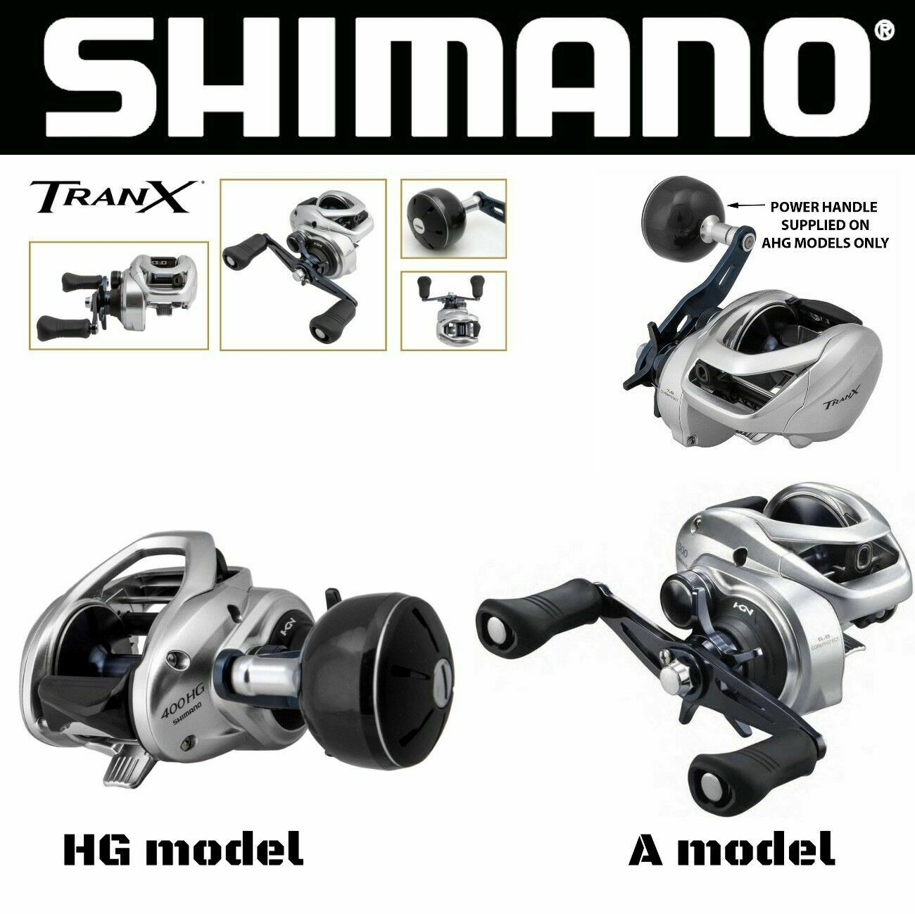 Shimano basso profilo Casting Reel TranX