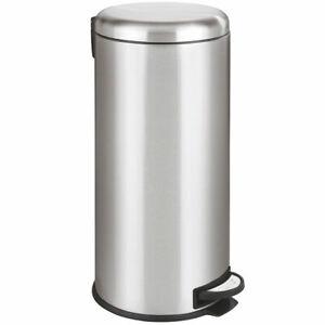 WENKO-Treteimer-Leman-Muelleimer-Abfalleimer-Edelstahl-30-Liter-unbenutzte-B-Ware