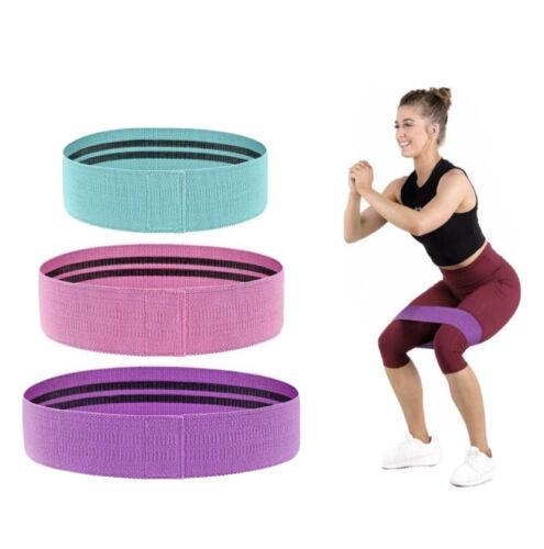 Tissu bandes de résistance 3 Pack épais /& Large Hip Booty exercice d/'entraînement bandes