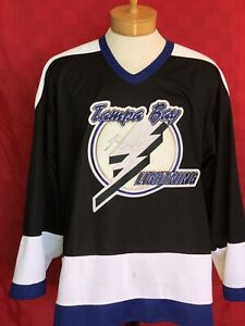 f2b82f0d69f SIGNED Vinny Lecavalier #4 Tampa Bay Lightning NHL hockey jersey OLD ...