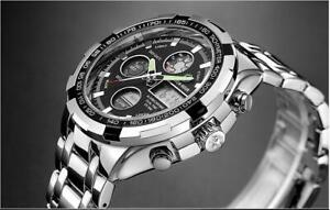 Montre-bracelet-homme-acier-inoxydable-Chronographe-watch-montre-mode-luxe