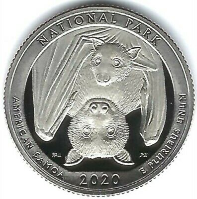 2020-s Clad Cameo Proof American Samoa Quarter IN STOCK NOW Ships in 24 Hours!