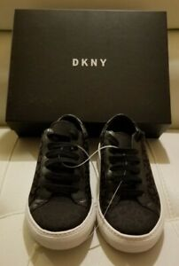 DKNY Black Court Lace Up Sneaker