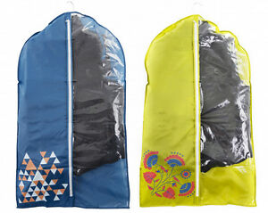 COLOURFUL-Pack-of-2-Suit-Cover-GARMENT-CLOTHES-Travel-Protector-BAGS-STORAGE