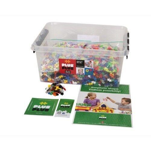 Boîte VRAC MIX Mini Basic Neon Pastel 6000 pièces - Plus Plus Education