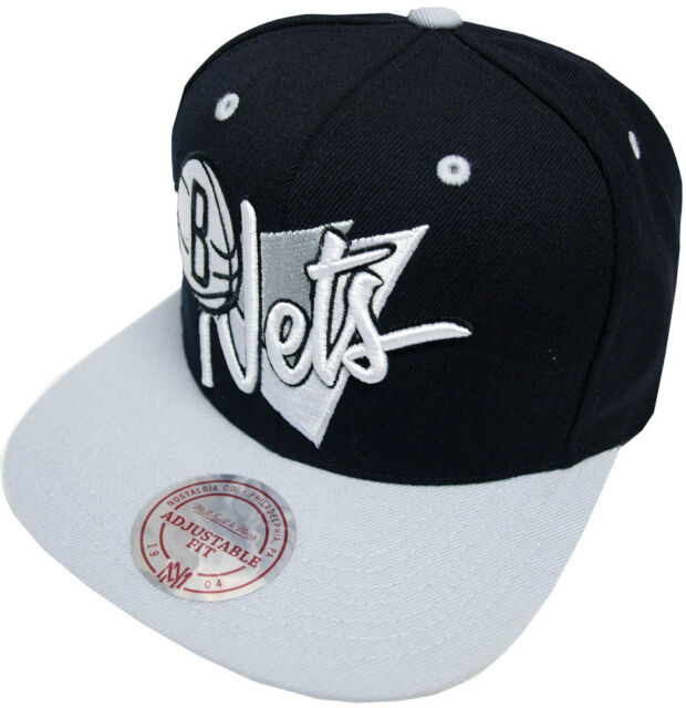 2a8ed09c607 Mitchell   Ness Brooklyn Nets Snapback Cap NZ01Z Triangle Script Baseball  Cap