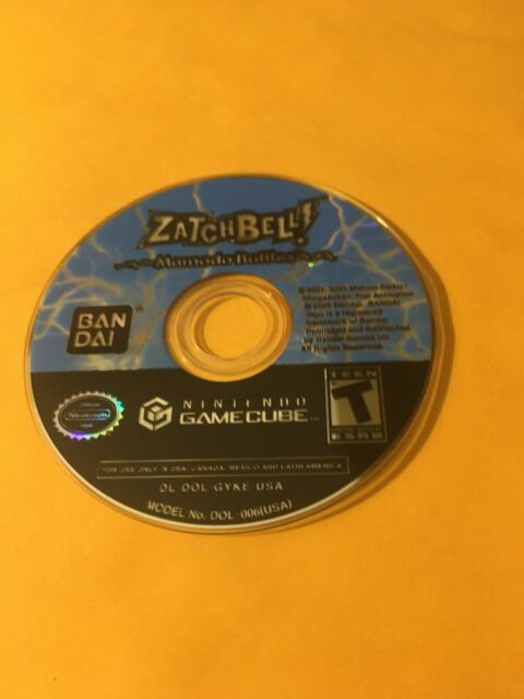 Zatch Bell Mamodo Battles (Nintendo GameCube) TESTED! DISC ONLY!
