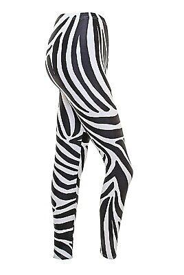Dance Free Style Leggings  Zebra Print Lycra
