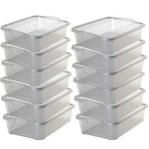 Life-Story-Clear-Stackable-Closet-amp-Storage-Box-34-Quart-Containers-12-Pack