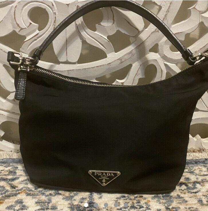 AUTHENTIC 90s VINTAGE PRADA NYLON Bag Black Mini … - image 1