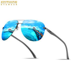 Aluminium-Frame-Polarized-Sunglasses-Men-039-s-Rimless-Retro-Outdoor-Drving-Eyewear