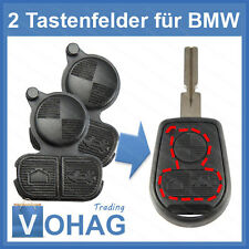2x Schlüssel Gummi Taste NEU Button FÜR BMW E36 E38 E39 E46 NEU BMW Tasten Key