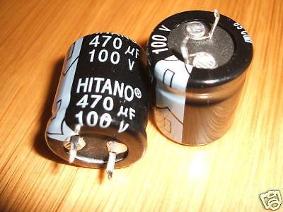 2 Electrolytic Capacitors 470uF 100V PSU Smoothing Amp