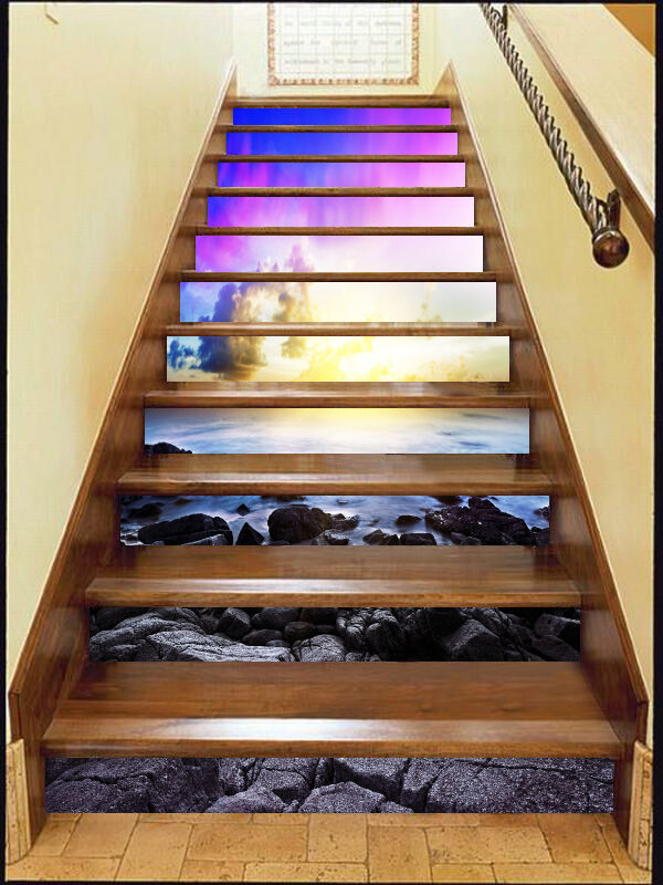 3D Sky stone 2535 Stair Risers Decoration Photo Mural Vinyl Decal Wallpaper UK