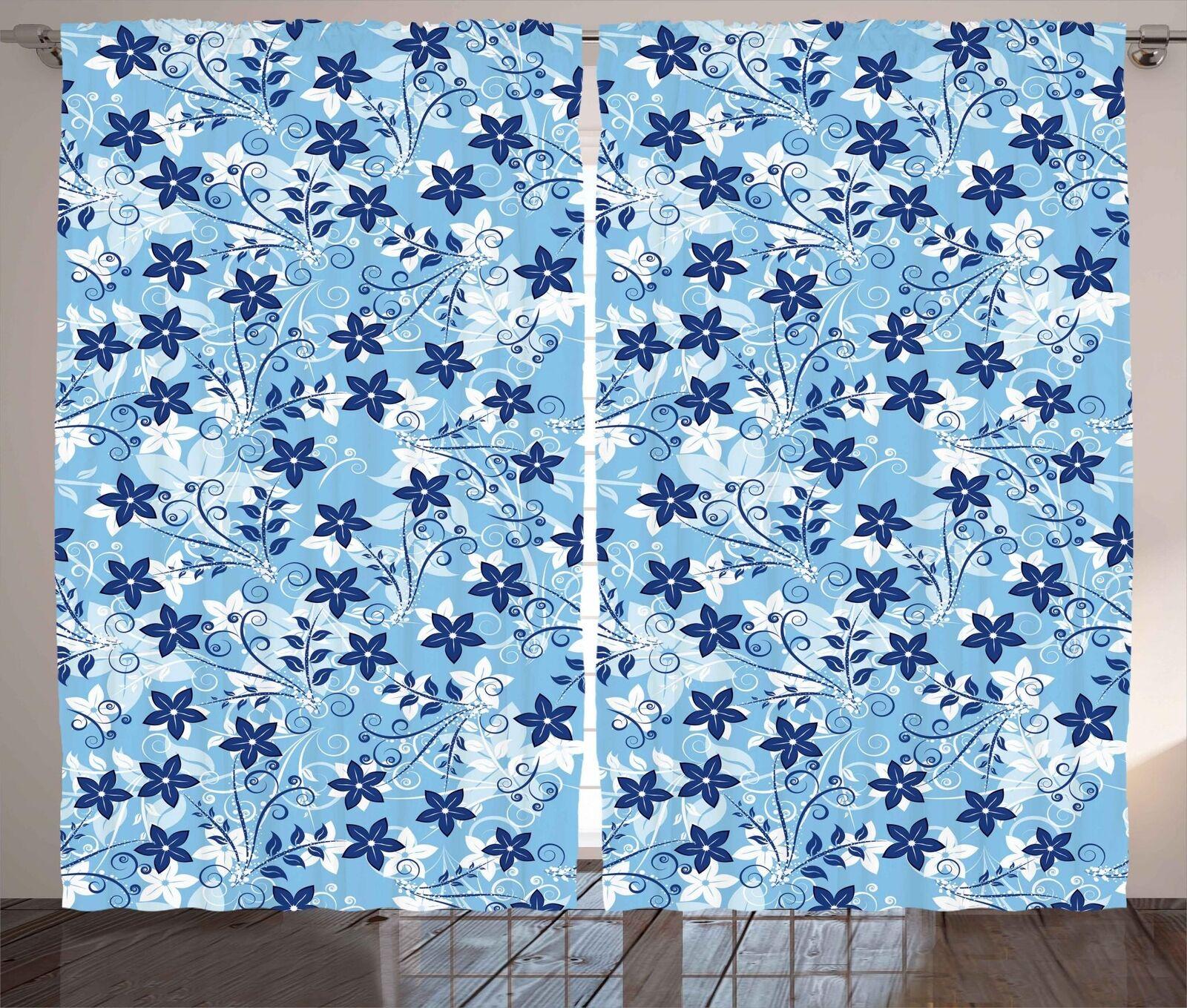 Conjunto De Panel Digital Colorido Cortinas 2 Decoración 5 tamaños de ventana Cortinas ambesonne