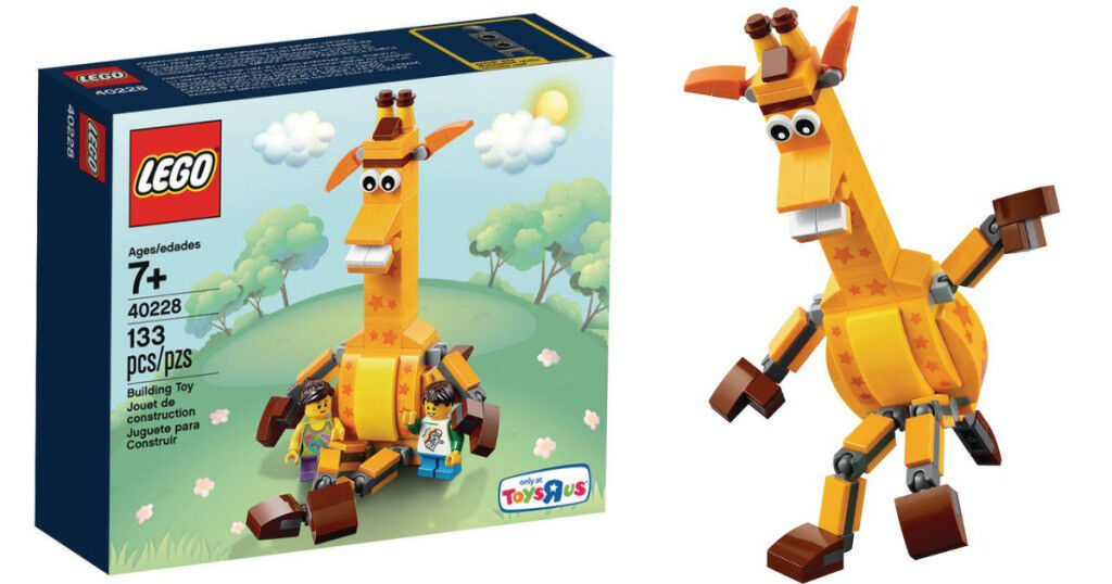 "Toys ""R"" Us - Geoffrey the Giraffe - LEGO 133pcs (5) Case - Sold Out."