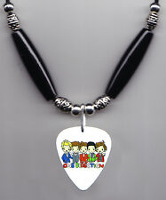 1 One Direction Cartoon Guitar Pick Necklace 1D