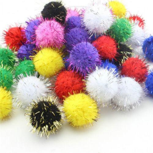 100Pcs Plush Ball 15mm Kids Christmas Ornaments DIY Craft Xmas Gift Decoration