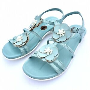 08750893c57 Image is loading Easy-Spirit-Haven-Flat-Sandals-Womens-Patent-Leather-
