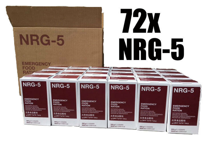 NRG-5 Notration, Notverpflegung, Langzeitverpflegung, 72x500g (3 Kartons)